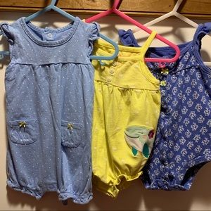 Three 9m carters rompers